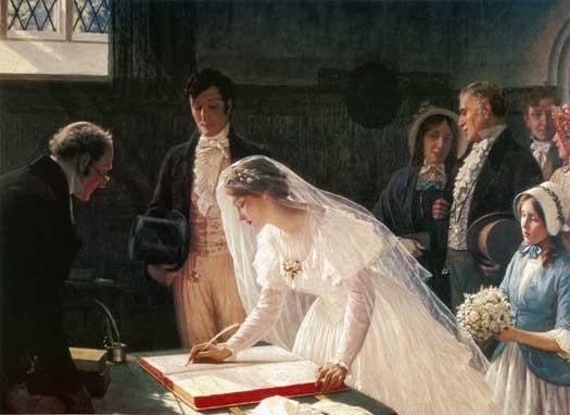 peinture mariage
